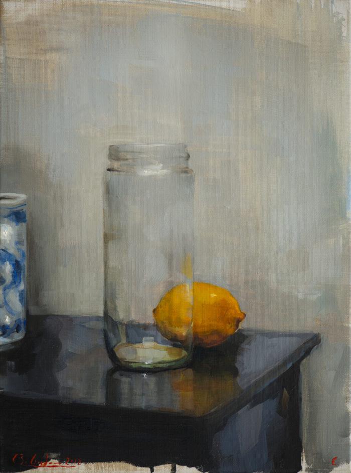A lemon in the studio_30x40cm