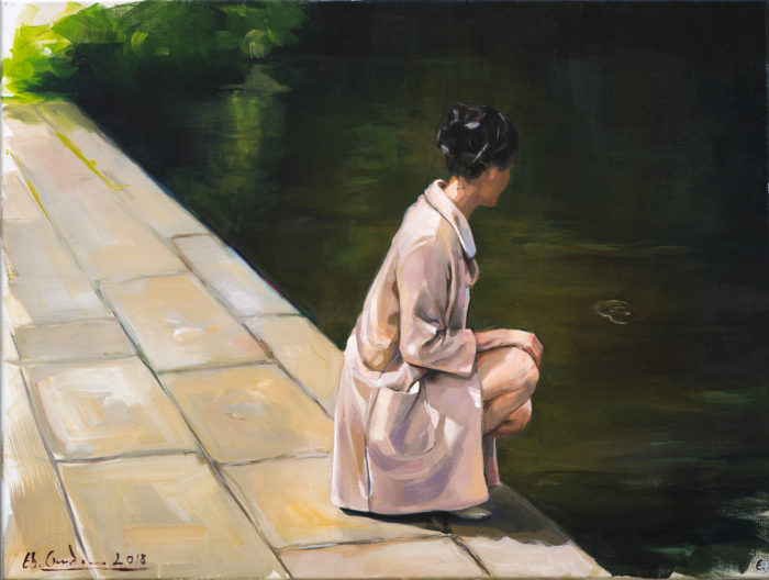 By the lake_73x55cm