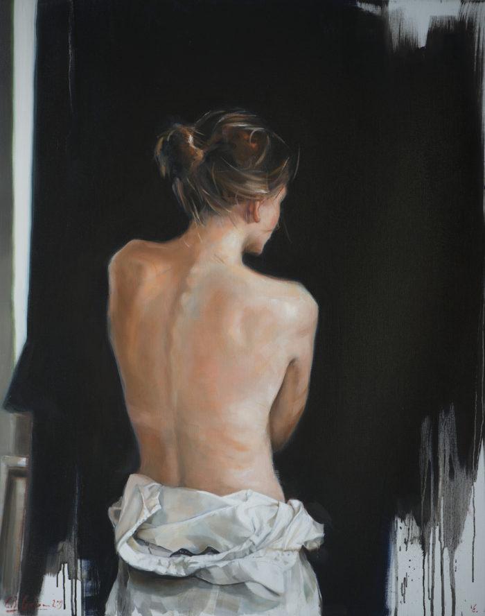 Le dos d'une femme_80x100cm