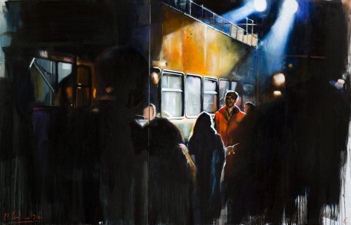 Meet me on a bus at dawn_280x180cm_ol