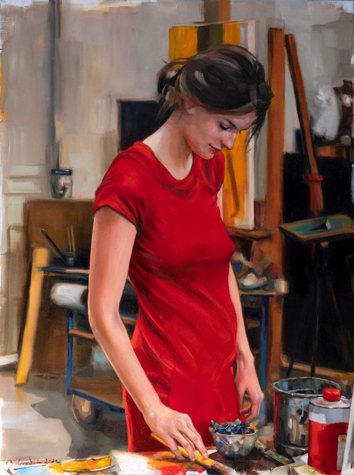 Ein-Sommertag-im-Atelier_90x120cm_EdwardBGordon